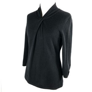 Nordstrom Collection 100% Cashmere 3/4 Sleeve Top